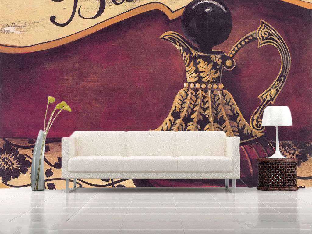 3D Carved Teapot Paper Wall Print Wall Decal Wall Deco Indoor Murals