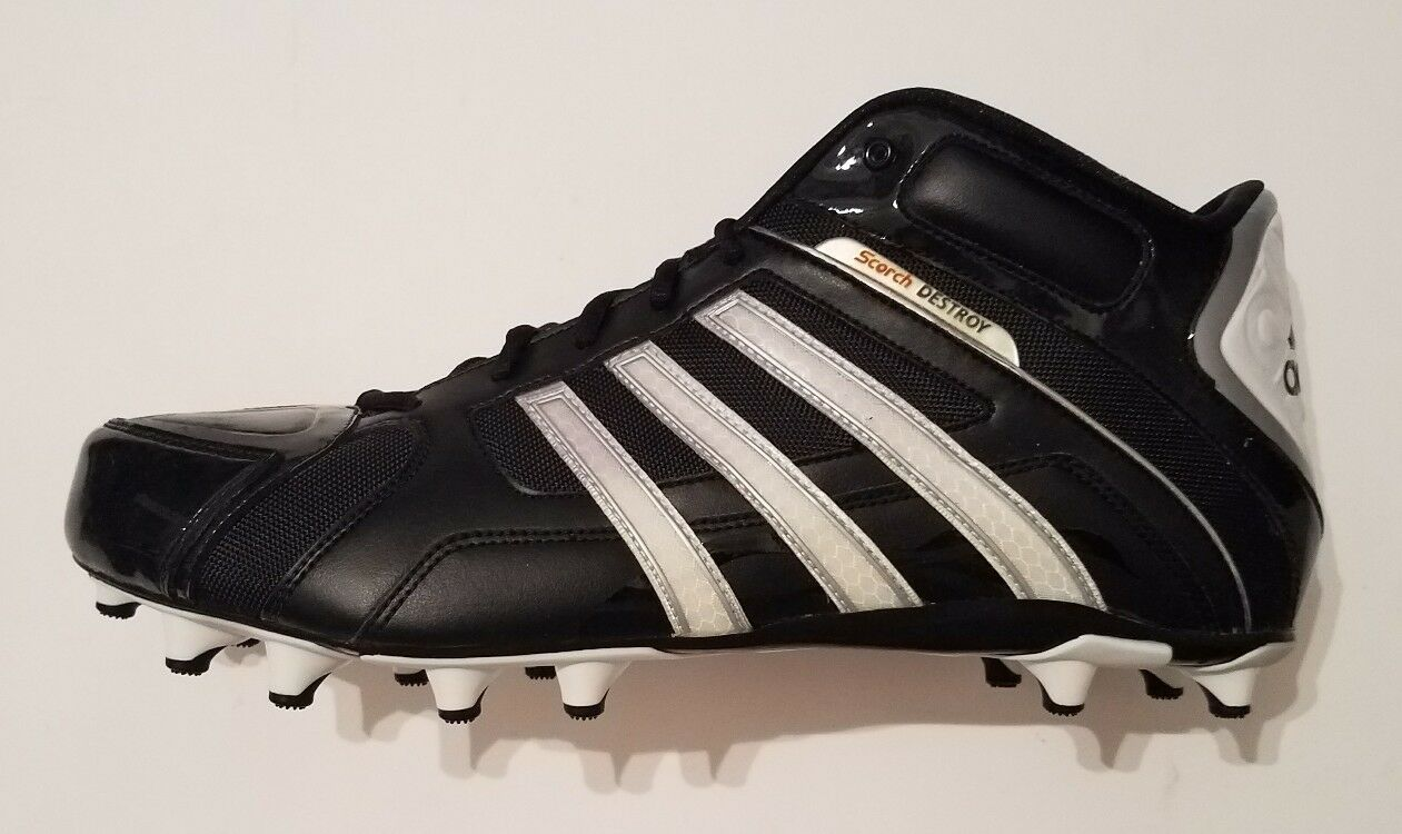 Adidas Scorch Destroy Fly Mid Men's Football Cleats Shoes Black Comfortable Wild casual shoes