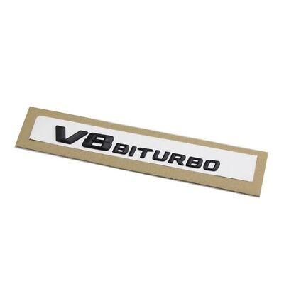 2pcs V8 Biturbo AMG Schriftzug Chrom Silber Emblem Logo E63 CL63 CLS63 G63 ML63