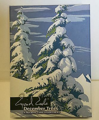 Eyvind Earle Christmas Holiday Cards December Trees 20 Boxed Art Pomegranate
