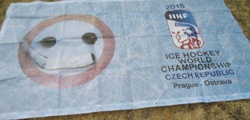 Fahne Banner 2015 Ice Hockey World Championship Czech Republic Prag Ostarva # 27 Eishockey