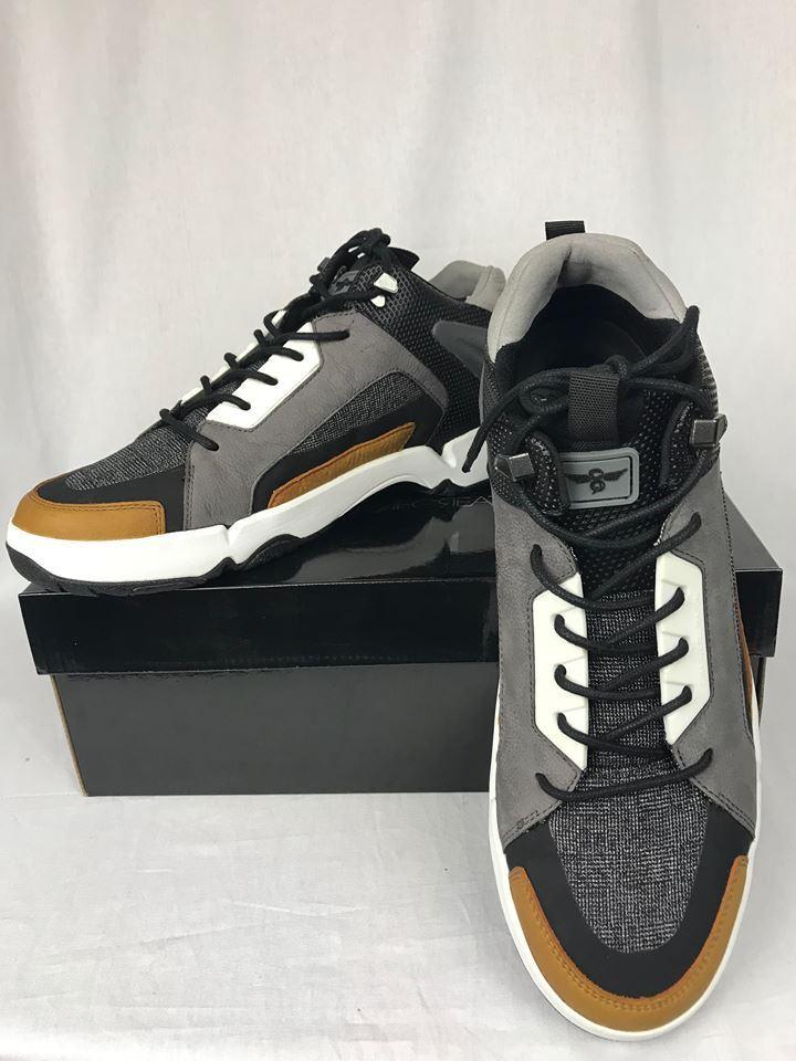 super popular 6ffc9 7e3d9 CREATIVE RECREATION Men s Men s Men s Black Brown Gray NITTI Fashion  Inspired Court Shoe 3b8380