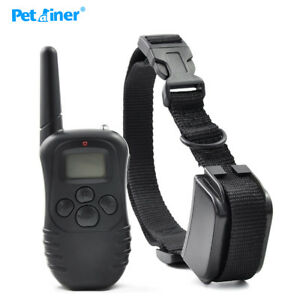 Collar-Electrico-Entrenamiento-Perro-300m-Recargable-Impermeable-Shock-amp-Beeper