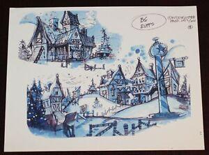 Nine Dog Christmas Animation Background Ruff Layout Santas House Roy Wilson 2002