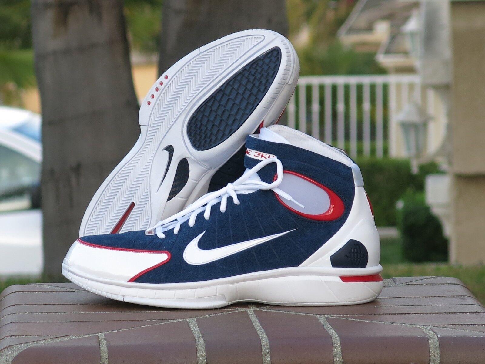 f2bdae08ead90 Nike Air Zoom Huarache 2k4 Basketball Shoes Mens Sz 11 Red White ...