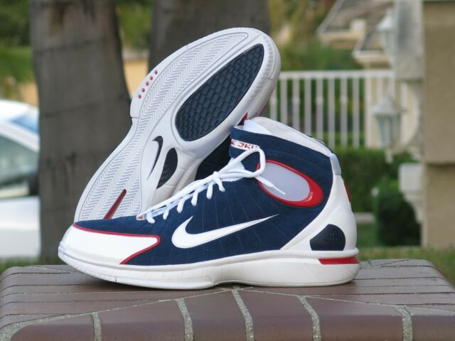 64c978389112 Nike Air Zoom Huarache 2k4 Basketball Shoes Mens Sz 11 Red White ...