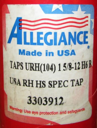 1 5//8-12H6 B RH HS Spec Tap 104 Allegiance 3303912 TAPS URH