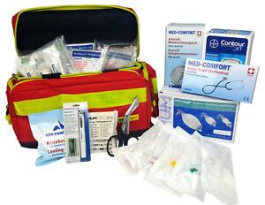 Rscue Notfalltasche Plane Gr L Gefüllt Din 13169 Rot Erste Hilfe