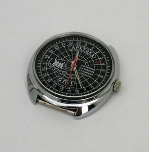 Russian-Mechanical-watch-24-hr-dial-ARCTIC-Soviet-station-North-Pole-1-0550