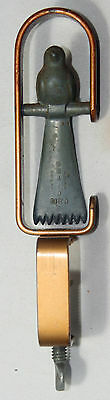 CLAMP, HEMMING BIRD~~Original ANTIQUE c1850 ~~ Brass RaRe FIGURAL,novelty