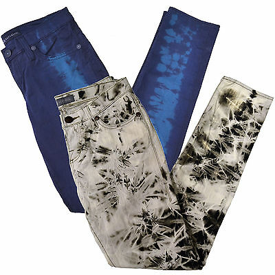 Rock & Republic Jeans Womens Skinny Fit White Blue Berlin Limited Edition New