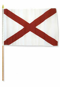"12x18 12/""x18/"" State of Arkansas Stick Flag wood Staff"