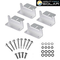Mighty Max Solar Panel Mounting Z Bracket Kit For Rvs Roof on sale