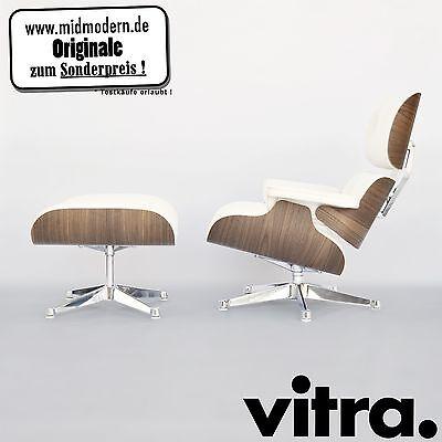 NEU* Eames Lounge Chair U0026 Ottoman Nussbaum Weiss   XL Vitra