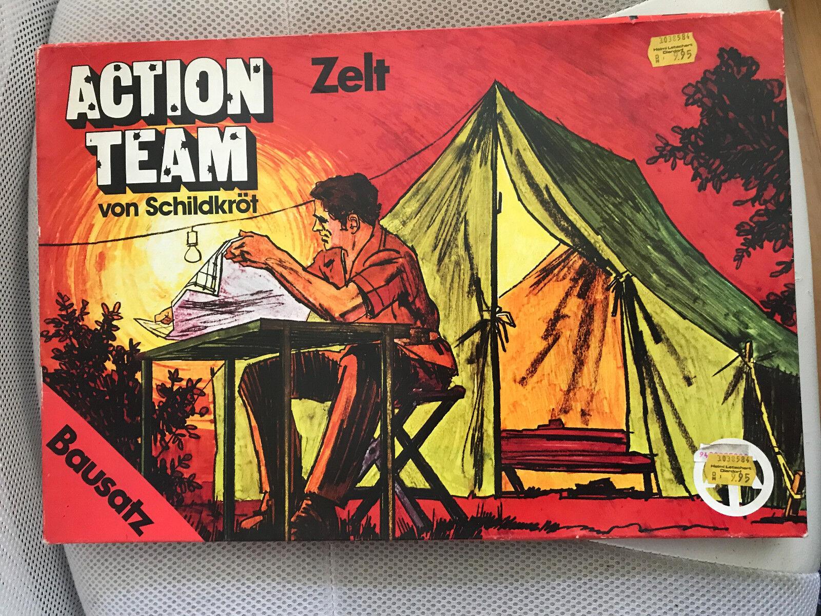 1970 moc gi joe action team - mann - zelt hasbro   634146