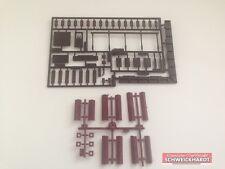 Kibri H0 Bausatz 4100-9 5 Kamine Backstein gemauert für Wohnhäuser, 3 Türen Neu