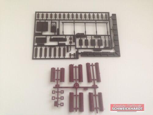 3 Türen Neu Kibri H0 Bausatz 4100-9 5 Kamine Backstein gemauert für Wohnhäuser