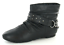 Ankle On Chain Spot Boots Flat Black Double qdH0nxtwXx