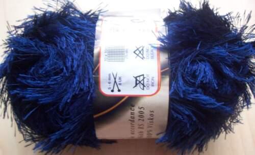 100 G fransengarn Ayda franges laine libre choix de la couleur bleus nuances de vert