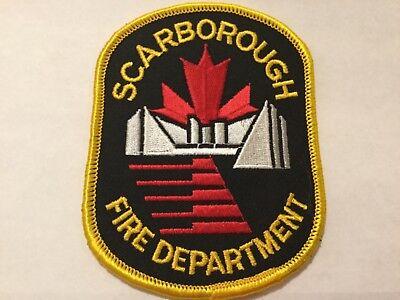 Borough of Scarborough Fire Department Patch-Old Ontario,Canada Pre.1998 Toronto