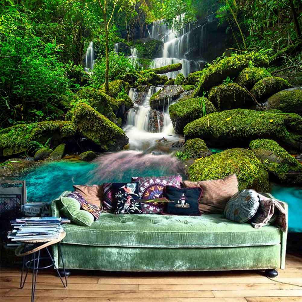 High Level Waterfall 3D Full Wall Mural Photo Wallpaper Printing Home Kids Decor