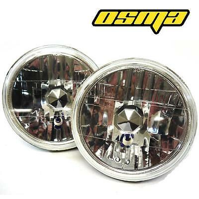 "7"" 7 Inch Diameter Round Diamond Headlights Conversion H6014 H6017 H6024 Pair"