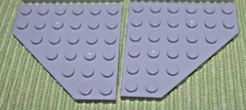 Wing Plate Bricks  ~  Lego  ~ NEW ~ 1-pair 6x6 Light Gray Corner 2