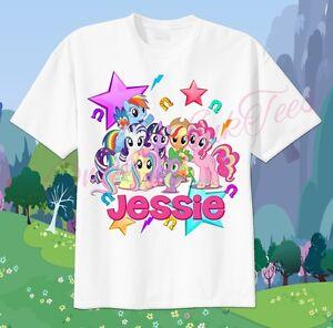 Custom Birthday Shirts Personalized T-shirts My Little Pony