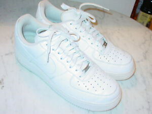 2018 Nike Air Force One 07 White Leather Low Basketball