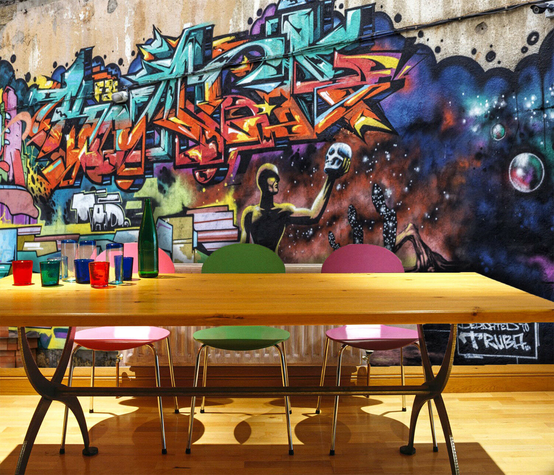 3D Graffiti Wand Kunst 8978 Tapete Wandgemälde Tapeten Bild Familie DE Lemon