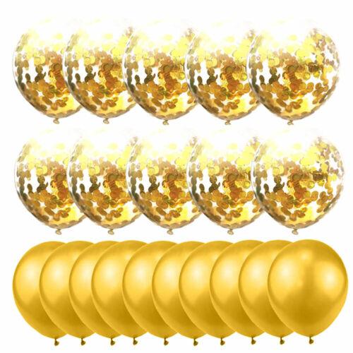 20pcs//set LUFTBALLONS Rose Gold Pailletten Ballon  Hochzeit Geburtstag Party
