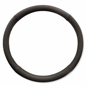 Universal-Black-Leather-Look-Steering-Wheel-Cover-Soft-Grip-Car-Van-14-034-15-034