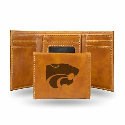 Kansas State Wildcats NCAA Rico Industries  Laser Engraved Billfold Wallet