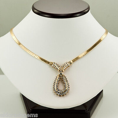 2.80 Ct Round Cut Diamond 14k Yellow Gold Finish Hamsa Pendant Necklace