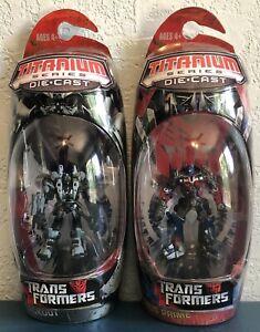 Transformers Titanium Series Lot 2 Blackout & Optimus Prime 2006 Micro Machines