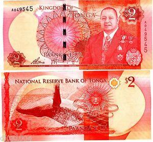 UNC/>King Tupou IV Tonga 2 Pa/'anga 2015 Lot 5 PCS P-44