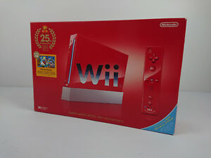 Nintendo-WII-rouge-Edition-25th-anniversary-Mario-console-import-Japon