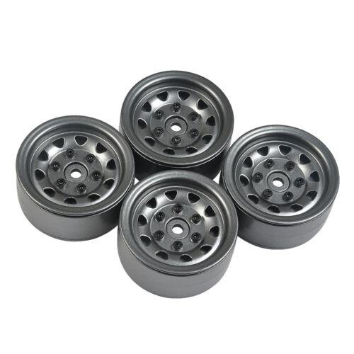 1//4x Heavy Duty Alloy 1.9/'/' Beadlock Wheel Rims for RC Axial SCX10 D90 D110 TRX4