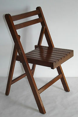 Antique Chair Wood Foldable For Furniture Child Vintage Years 80 Design Pure Whiteness