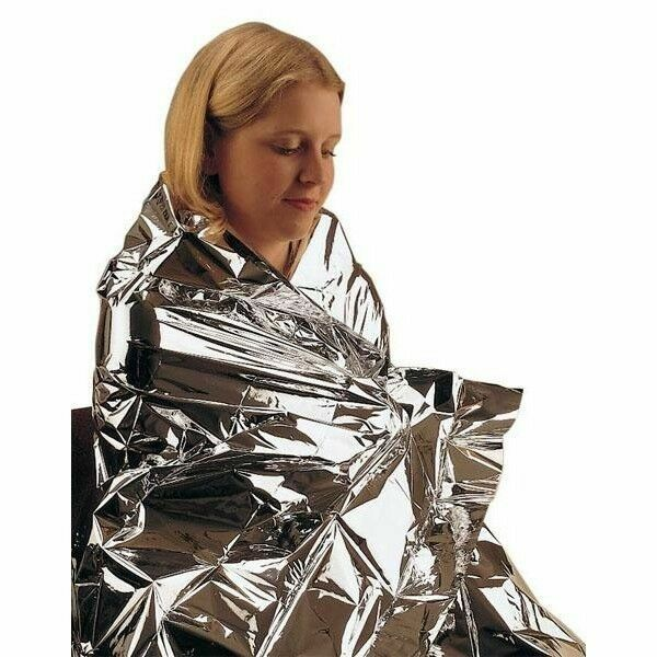 Foil Emergency Thermal Survival Blanket Camping & Outdoor Sports 160cm x 210cm