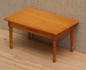 1:12 Dolls House Pine kitchen table with drawers