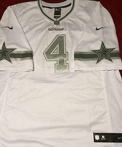 buy online 59a06 22d5d Details about Dak Prescott Cowboys Platinum White Jersey 52/2XL