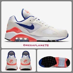 Détails sur Nike Air Max 180, 615287 100, NEUF sans étiquette Tailles UK 14, EU 49.5, US 15, blanc, bleu outremer afficher le titre d'origine