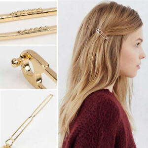 2x-Metal-Gold-Plated-Tone-Safety-Pins-Hair-Clip-Hairpin-Barrette-Bobby-Pins-Gift
