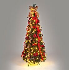 item 4 pre lit pre decorated pop up christmas tree 18m 150 warm white lights ct07547 pre lit pre decorated pop up christmas tree 18m 150 warm white - Pop Up Pre Lit And Decorated Led Christmas Tree