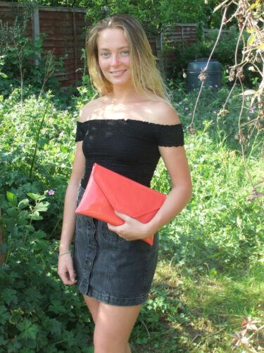 Stylish Large Envelope Patent Clutch Bag//Shoulder Bag Wedding Party Prom Bag