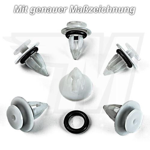 10x Seiten- Zierleisten Befestigungs Clips für BMW MINI Cooper51777171002