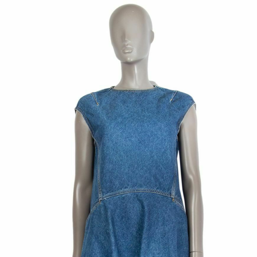 58868 auth BALENCIAGA blue cotton Denim Asymmetri… - image 4