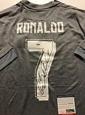 Autographed/Signed CRISTIANO RONALDO Real Madrid Grey Soccer Jersey PSA/DNA COA