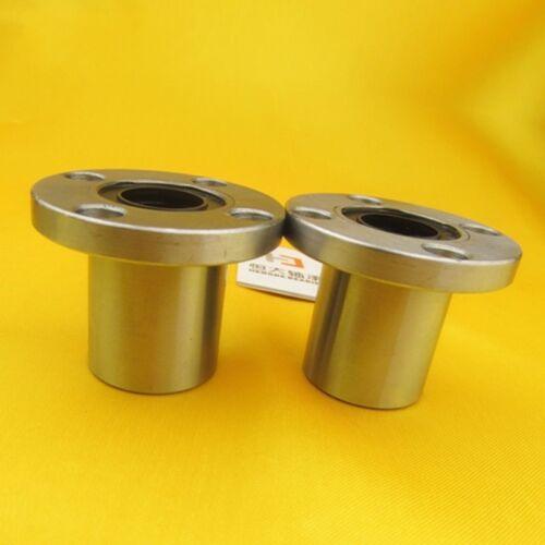 LMF35UU Size 35*52*70mm Round Flange Bushing Bearings Linear Motion Bearing